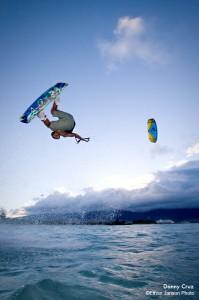 Danny Cruz Kiteboarding Sunset