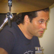 Danny Cruz gets ready to record the next track.
