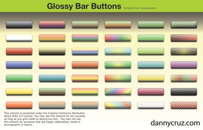 Free Vector Bar Buttons