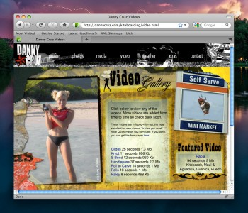 Screen Capture - Kiteboarding Video Page
