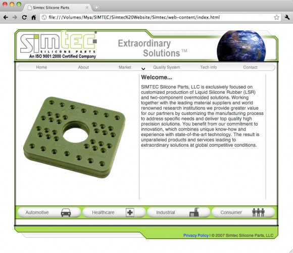 Simtec 2007 Website Screenshot