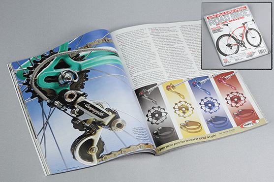 Road Bike Action Magazine May 2011 Ad Layout