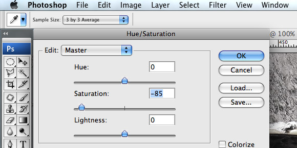 Hue-Saturation Control Box