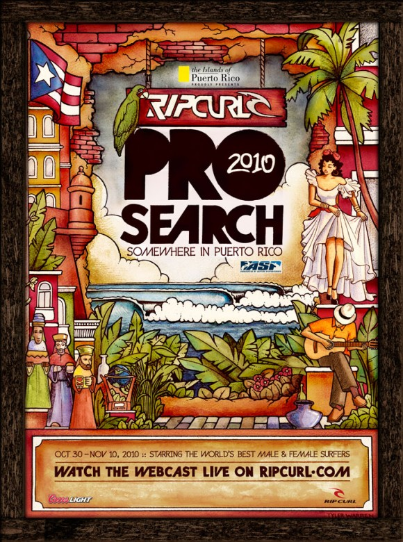 Rip Curl Pro Search Poster
