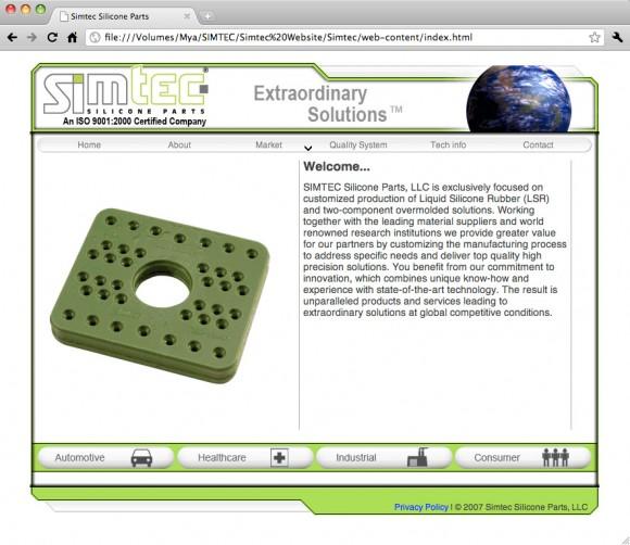 Simtec 2007 Website Screenshot