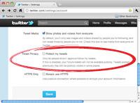 Protected Tweets Twitter Profile Settings