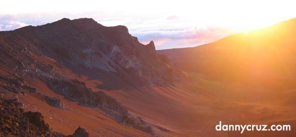 Landscape Crater Sunrise